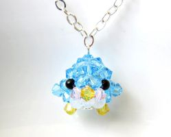 Blue Penguin Necklace by SparkleMeHappy