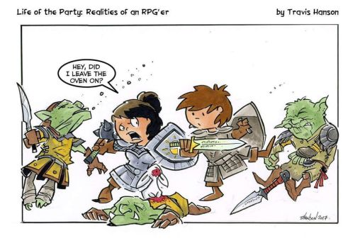 In the midst of battle ... rpg comic by travisJhanson