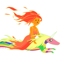 Flame Princess and Lady Rainicorn !!!(one) by Harashika