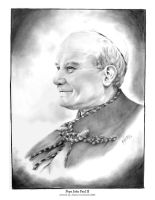 In Memory of Pope John Paul II by kaliko-rosa
