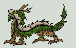 Forest Dragon fakemon by eeveelution-lover
