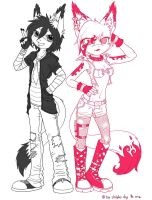 :PointCom: Tory and Shanney by MoonyWings