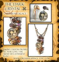 Dark Crystal Necklace Custom by natamon