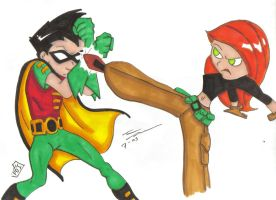 Kim Possible vs Robin by PDInk