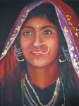 indian girl with nose piercing by fusunyeremyan