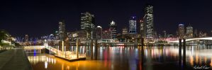 Night Skyline 2 by robertvine