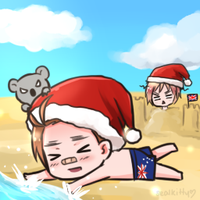 Merry Christmas from Australia by Sealkittyy