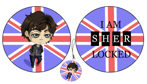 SHERlocked chibi charm by FloraDelaney