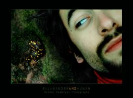 Salamander and Human by Staged