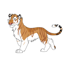tiger character by Gruvu