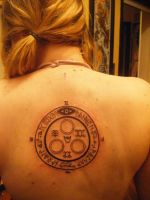 Halo of the sun - tattoo by Spookss