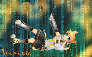 Len wallpaper without rin by Yokuna-chan