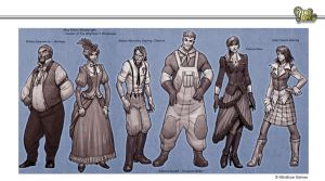 Steampunk Lineup #2 by Concept-Art-House