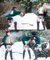 Snowball Fight - Shingeki No Kyojin by denni-cosplay