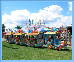 Hartford Fair Colorful Train by WDWParksGal