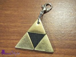 Brass Triforce Charm Clip by Sarinilli