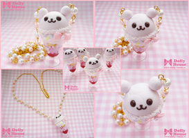 Adorable -Bear Parfait- Necklace by Dolly House by SweetDollyHouse