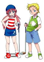 Golf Game Characters by Goldsickle