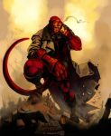 HELLBOY collab by wredwrat