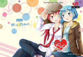 MadoMagi _KyouSaya Fanbook 3 Cover_ by GXsion