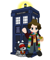 4th Doctor and TARDIS by Soseiru