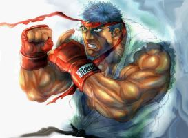 RYU colored by sagatt