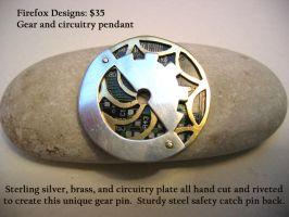 Circuitry Gear Pin by AelisLaurel