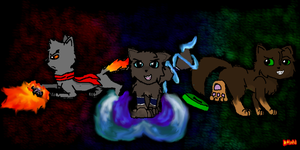 The Legend of Korra- Team Fire Ferrets CAT VERSION by Dawnfire2025