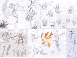 CE:Vex and daniel's concept drawings by stargirl5286