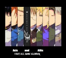 Hetalia Axis and Allis (THEY GONE SLENDER!!!!) by Chair-a-key