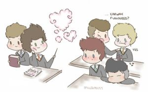 One direction at Hogwarts by milamint