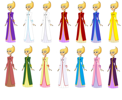 Ilana dress Color variations by soundwave3591