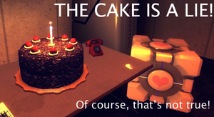 The cake is NOT a lie by CsioSoft
