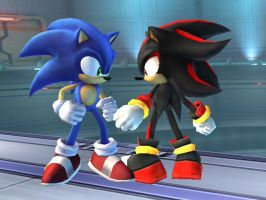 Sonic and Shadow by EXP282