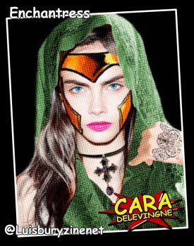 Cara Delevingne - enchantres for the #SuicideSquad by luisbury-zine-net