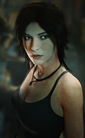 Lara Croft by Breadblack