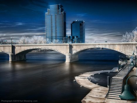 Grand River in Infrared by KBeezie