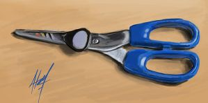 Scissors and plectrum by HatewarE