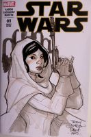 Princess Leia Sketch by TerryDodson