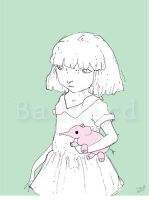 Girl with Pink Elephant by AngryBird