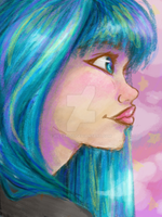 Your hair. It's Bluuuuue by RileyRiot