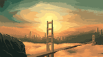 Golden Gate sunset by Tior