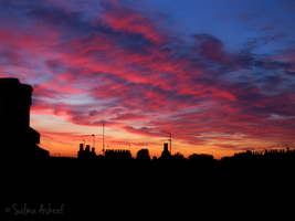 Jagged Pink Clouds by SalmasPhotos