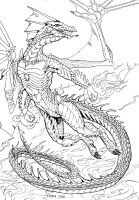Line art for Kxeron by Zvynuota