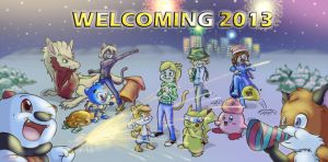 Welcoming 2013 by CyberPikachu