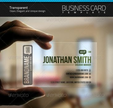 Transparent Business Card by artnook