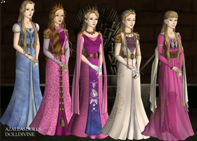 All the Zeldas! (Game of Thrones Dollmaker) by dollmake