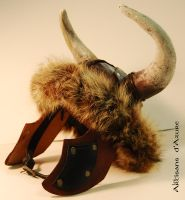 Mongolian Helm with horns by ArtisansdAzure