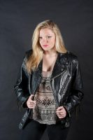 Hanna in Leather by ChristopherSacry