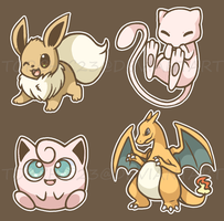 Pokemon Sticker Sheet by spiffychicken